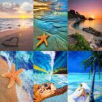 5D DIY Full Drill Diamond Painting Easeful Seaside Cross Stitch (B386)