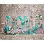 5D Round Diamond Painting Embroidery Letter Mosaic Set Cross Stitch (k942)