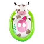 Animal Inflatable Baby Swim Seat Circle Swimming Pool Toys Ring (Green)