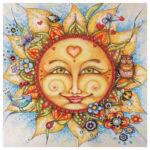 5D Diamond Painting Mosaic Kit Cartoon Sun Full Drill DIY Cross Stitch Gift