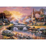 5D DIY Full Drill Diamond Painting Easeful Village Cross Stitch Embroidery