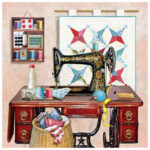 5D DIY Full Drill Diamond Painting Sewing Machine Cross Stitch Embroidery