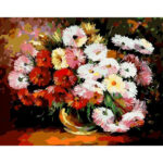 Painting By Numbers Kit DIY Colorful Flower Canvas Digital Wall Art Picture