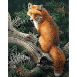 Painting By Numbers Kit DIY Tree Fox Digital Canvas Oil Wall Art Home Decor