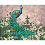 Painting By Numbers Kit DIY Peafowl Digital Oil Canvas Wall Art Home Decor