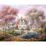 Garden House DIY Painting By Numbers Handpainted Oil Painting Home Decor
