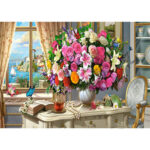 5D DIY Full Round Diamond Painting Colorful Flowers Needlework Cross Stitch