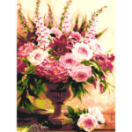 DIY Digital Oil Painting By Numbers Vase Flower Frameless Picture Wall Art