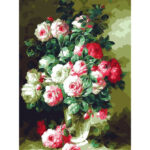 Painting By Numbers Artwork DIY Table Flowers Hand Painted Oil Art Picture