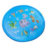 Dolphin Inflatable Water Spray Mat Kids Lawn Play Sprinkler Cushion (150cm)