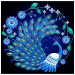 5D DIY Full Drill Diamond Painting Elegant Peafowl Cross Stitch Embroidery