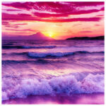 5D DIY Diamond Painting Rough Waves Full Drill Embroidery Seascape Picture