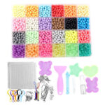 24 Colors Refill Beads Puzzle DIY Water Spray Magic Beads Toy for Children