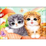 5D DIY Diamond Painting Cat Full Drill Embroidery Cross Stitch Home Arts