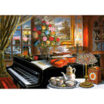 5D DIY Full Drill Diamond Painting Music Family Cross Stitch Embroidery Kit