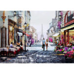 5D DIY Full Drill Diamond Painting Romantic Street Cross Stitch Embroidery