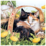 5D DIY Full Drill Diamond Painting Lazy Cat Cross Stitch Embroidery Mosaic