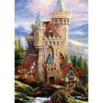 5D DIY Full Drill Diamond Painting Flowers Castle Cross Stitch Embroidery