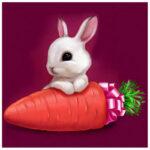 5D DIY Full Drill Diamond Painting Rabbit Carrot Cross Stitch Embroidery