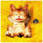 5D DIY Full Drill Diamond Painting Happy Cat Cross Stitch Embroidery Mosaic