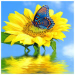 5D DIY Full Drill Diamond Painting Positive Sunflower Cross Stitch Craft