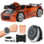 Electric Voice Control Car Toy Metallic Bullet Racing Car for Kids (Orange)