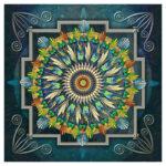 5D DIY Diamond Painting Ethnic Flower Full Drill Art Picture Cross Stitch