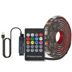 USB LED Music Control Strip Light RGB Flexible Tape String Lamp (3m)