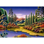 5D DIY Diamond Painting Dreamland Full Drill Landscape Embroidery Mosaic