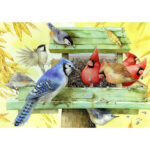 5D DIY Diamond Painting Nest Colorful Bird Full Drill Animal Picture Mosaic