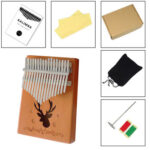 17 Keys Reindeer Print Kalimba Spruce Musical Instrument Thumb Finger Piano