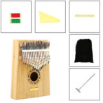 17 Keys Exotic Style Kalimba Bamboo Musical Instrument Finger Thumb Piano