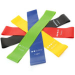 5pcs/Set Rubber Resistance Loop Bands Yoga Gym Workout Training Pull Rope