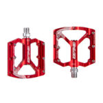 ENLEE Bearing Aluminum Alloy Bicycle Pedal MTB Bike Anti-slip Pedals (Red)