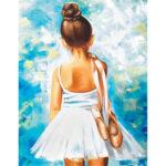5D DIY Full Drill Diamond Painting Ballet Girl Cross Stitch Embroidery Set