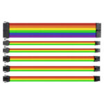 Power Extension Cable Kit ATX 4+4Pin EPS 8Pin PCI-e 6Pin PCI-e (Multicolor)