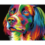 Painting By Numbers DIY Distracted Color Dog Hand Painted Artwork Picture