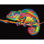 Painting By Numbers Frameless DIY Color Lizard Hand Painted Artwork Picture