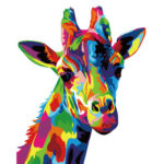 Painting By Numbers DIY Color Giraffe Hand Painted Digital Oil Art Picture