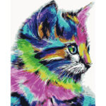 Hand Painted Artwork DIY Bemused Cat Painting By Numbers Digital Picture