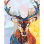 DIY Oil Coloring Painting By Numbers Animal Deer Canvas Paint Art Pictures