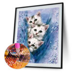 Three Cats 5D DIY Diamond Painting Cross Stitch Embroidery Home Decor Craft