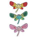 3pcs DIY Full Drill Diamond Painting Hair Clip Dragonfly Women Girl Hairpin