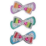 3pcs Bow Love DIY Full Drill Diamond Painting Hair Clip Women Girl Hairpin
