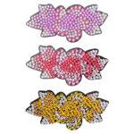3pcs DIY Full Drill Diamond Painting Hair Clip Women Girls Flower Hairpin