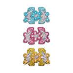 3pcs DIY Full Drill Diamond Painting Hairpin Butterfly Flower Girl Headwear