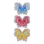 3pcs DIY Full Drill Diamond Painting Hairpin Butterfly Women Girls Headwear