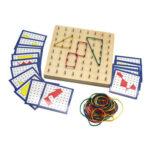 Educational Toy Geometric Nail Board Teaching Aids Nail Strip Card for Kid