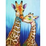 5D DIY Full Drill Diamond Painting Kissing Giraffe Cross Stitch Embroidery