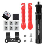 WEST BIKING Cycling Bicycle Tire Repair Tool Kit Pump Patch Lever (Red)